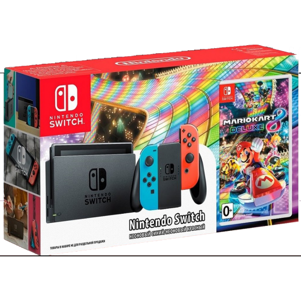 nintendo switch incl mario kart 8 deluxe. Black Bedroom Furniture Sets. Home Design Ideas