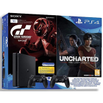 Playstation 4 Slim incl. Uncharted 4 Gran Turismo Sport