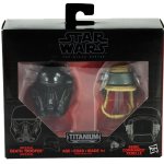 Star Wars Black Series Titanium Darth Vader and Rebel Commando
