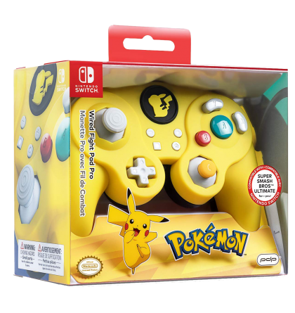 best authentic buy sale various colors Manette Nintendo Switch Pro Avec Fil de Combat Pikachu