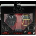 Star Wars Black Series Titanium Darth Vader and Rebel Commando