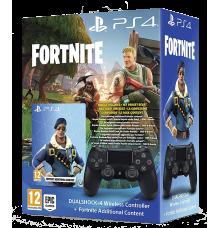 Controller PS4 Dual Shock 4  Jet Black + Fornite Bonus Content Bundle