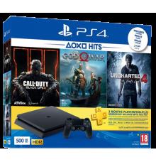 Playstation 4 Slim incl. God Of War Uncharted 4 Black Ops 3