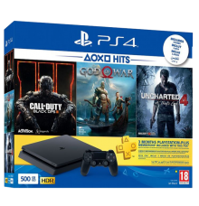 Playstation 4 Slim incl. God Of War Uncharted 4 Black Ops 4