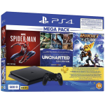Playstation 4 slim 500Go incl. Spiderman Game + Uncharted The Nathan Drake Collection Game + Ratchet & Clank Game